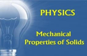 Mechanical Properties Of Solids: Assessment