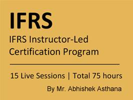 IFRS Instructor-Led Certification Program