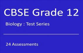 CBSE XII Biology: Test Series