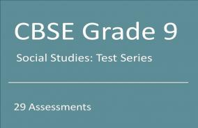 CBSE IX Social Studies: Test Series